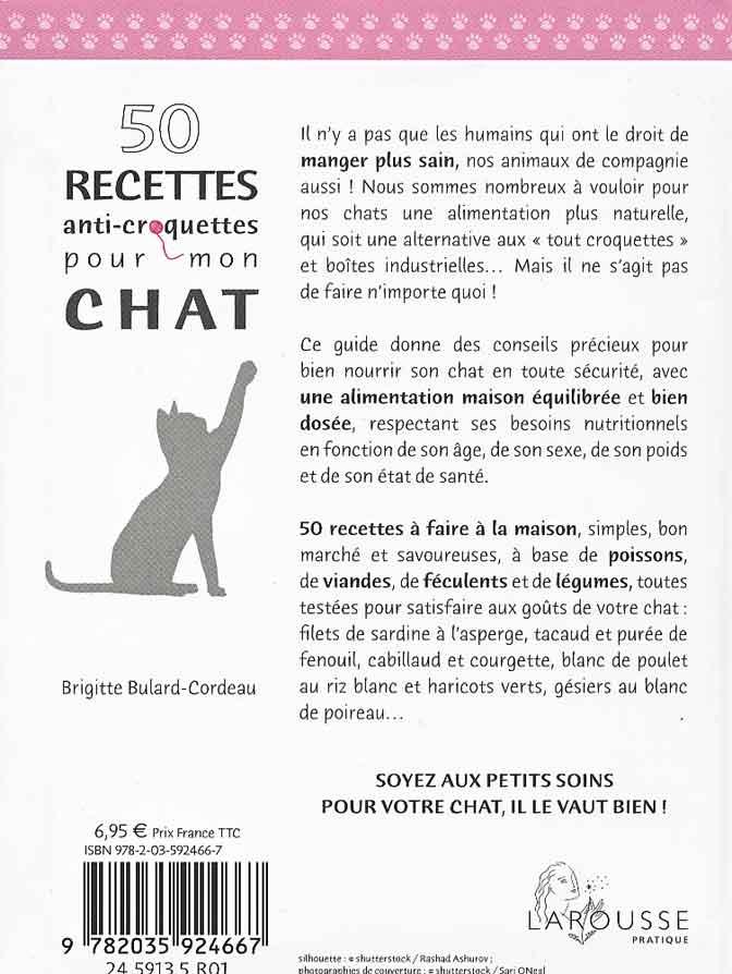50 recettes anti-croquettes pour mon chat Brigitte Bulard-Cordeau
